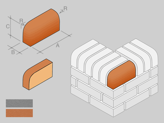 BN.10 Single Bullnose External Return On Edge (Brick Size)